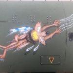 Dessin Nose Art à l'aérographe