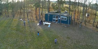Notre local pris par drone