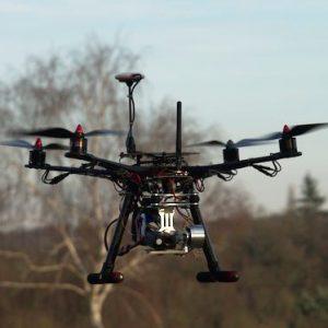 Drone vidéo F450 en vol
